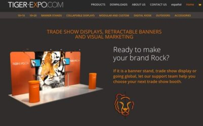 Página web de Tiger Expo